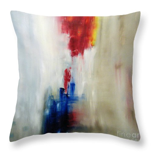 Abstract Painting Throw Pillow featuring the painting C-15 by Jeff Barrett
