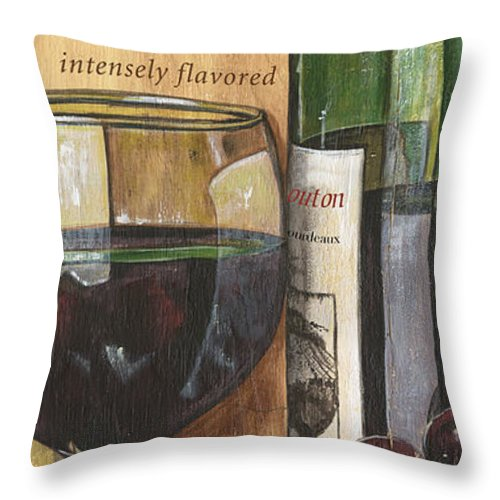 Cabernet Throw Pillow featuring the painting Cabernet Sauvignon by Debbie DeWitt