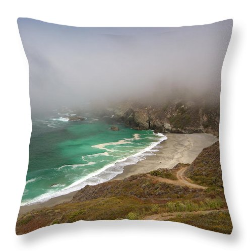 Monterey Throw Pillow featuring the photograph Cabrillo Sea Fog by David Beebe