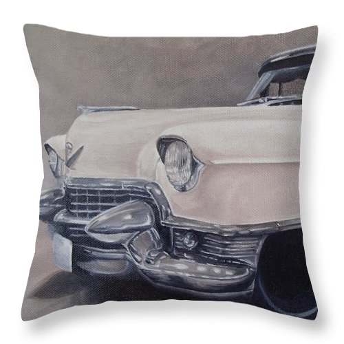 Classic Throw Pillow featuring the painting Cadillac Study by Pauline Sharp