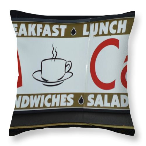 Nikon Throw Pillow featuring the photograph Cafe Time by Sonali Gangane