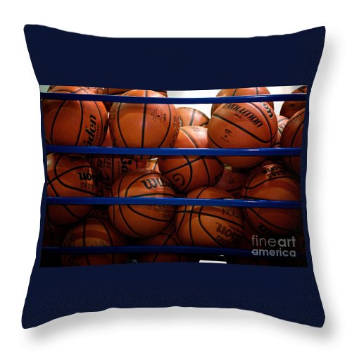 Frank-j-casella Throw Pillow featuring the photograph Cage Of Dreams by Frank J Casella