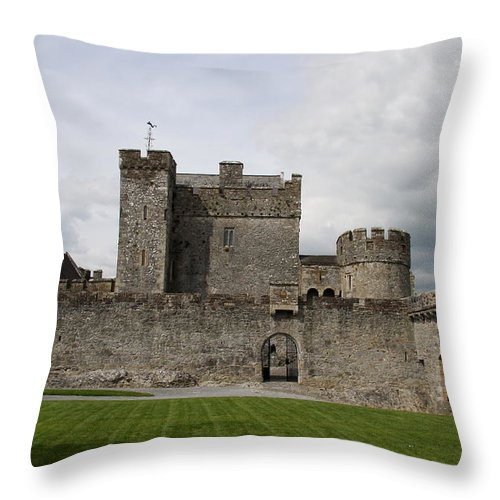 Cahir Castle Throw Pillow featuring the photograph Cahir's Castle Second Courtyard by Christiane Schulze Art And Photography