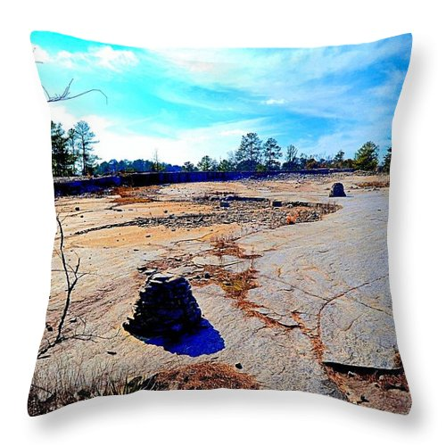 Cairns Throw Pillow featuring the photograph Cairns In The Wilderness by James Potts