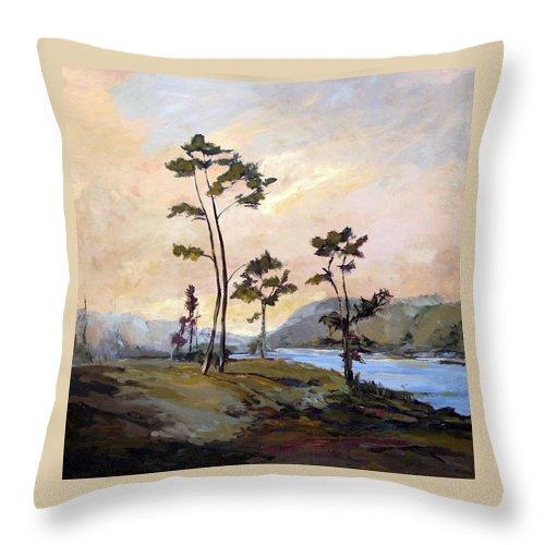 Carolina Throw Pillow featuring the painting Calabash River by J R Baldini