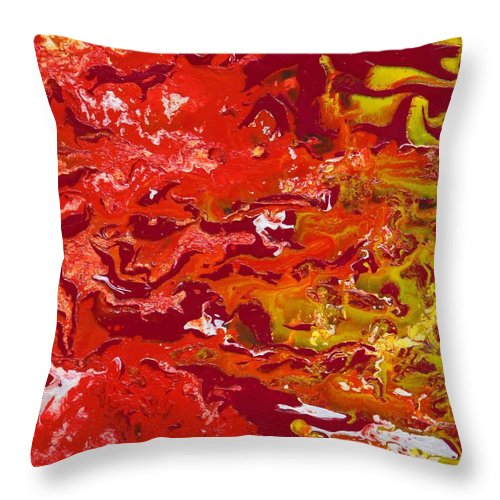 Fusionart Throw Pillow featuring the painting Caliente by Ralph White