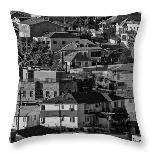 Black And White Throw Pillow featuring the photograph California Casbah by Guillermo Rodriguez