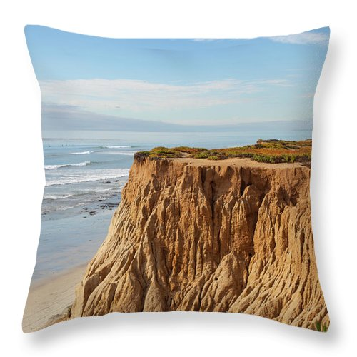 Water's Edge Throw Pillow featuring the photograph California Coast by Bill Oxford