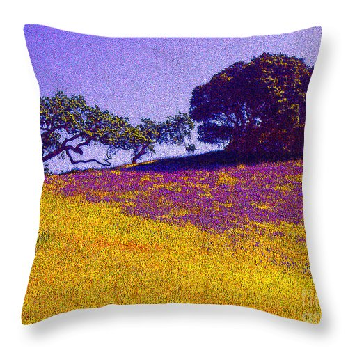 California Throw Pillow featuring the photograph California Hills by Jerome Stumphauzer