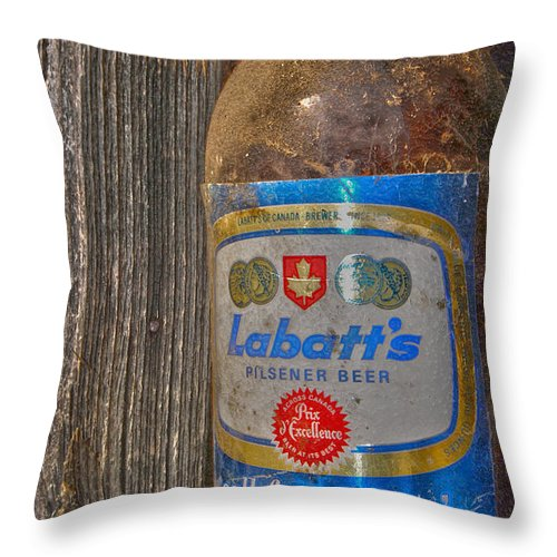Beer Throw Pillow featuring the photograph Call For A Blue by The Artist Project