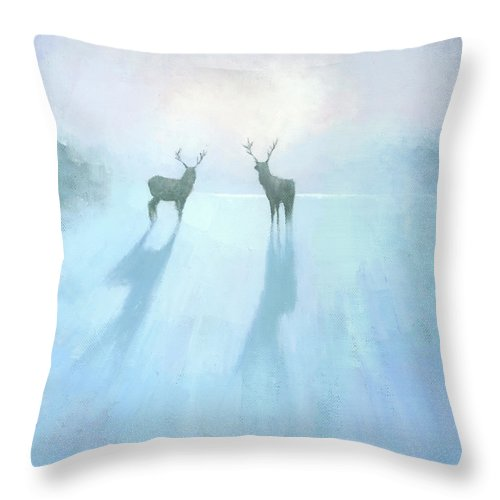 Original Throw Pillow featuring the painting Call Of The Arctic by Steve Mitchell