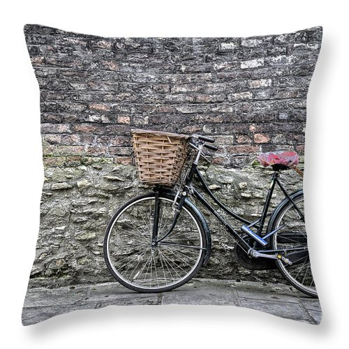 Cambridge Throw Pillow featuring the photograph Cambridge Bike 3 by Julian Eales