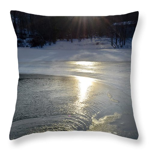 Reflection Throw Pillow featuring the photograph Camelback Scenic Sunset by Gary Keesler