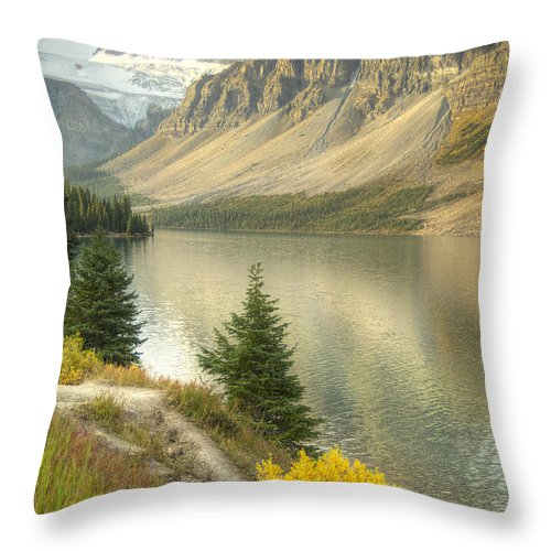 Alberta Canada Throw Pillow featuring the photograph Canadian Scene by Wanda Krack