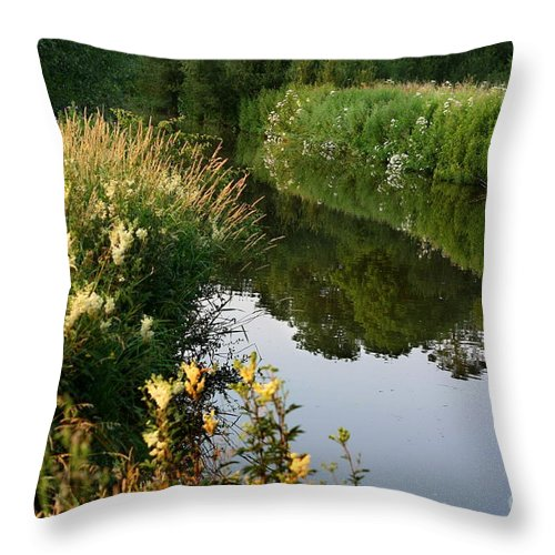 Oxford Throw Pillow featuring the photograph Canal Reflections by Jeremy Hayden