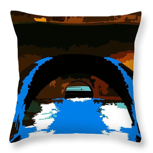 Museu Throw Pillow featuring the digital art Canal Zone by P Dwain Morris