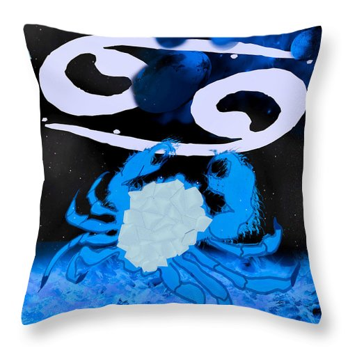 Cancer Throw Pillow featuring the digital art Cancer by Camille Lopez