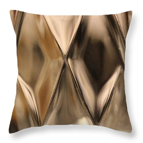 Crystal Throw Pillow featuring the photograph Candle Holder 1 by Mary Bedy
