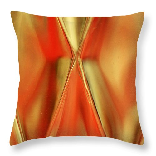 Crystal Throw Pillow featuring the photograph Candle Holder 12 by Mary Bedy