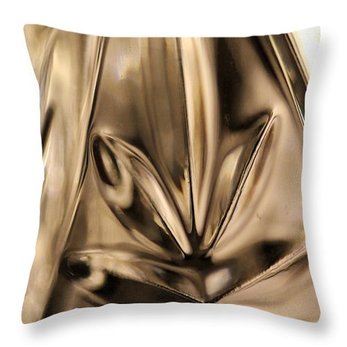 Crystal Throw Pillow featuring the photograph Candle Holder 4 by Mary Bedy