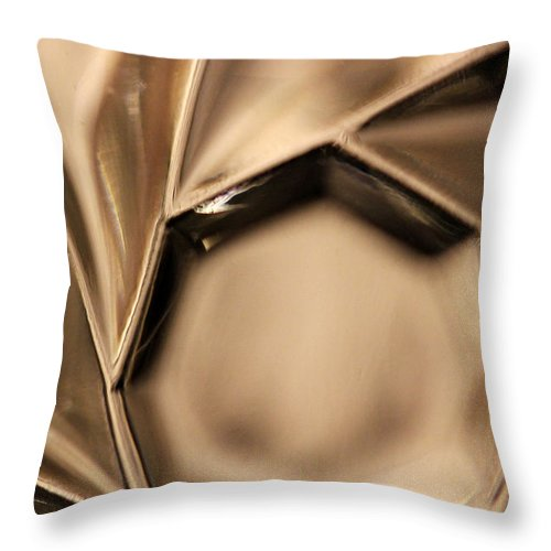Crystal Throw Pillow featuring the photograph Candle Holder 5 by Mary Bedy