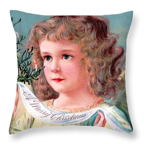 Angel Throw Pillow featuring the photograph Candles Tree by Munir Alawi