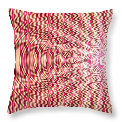 Opart Throw Pillow featuring the painting Candy Apple Explosion by Pet Serrano
