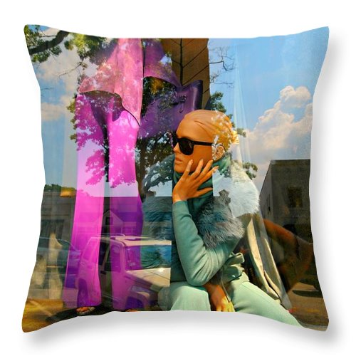 Mannequins Throw Pillow featuring the photograph Candy Coated by Diana Angstadt