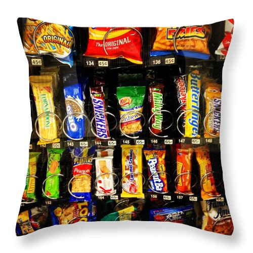 Snacks Throw Pillow featuring the photograph Candy Time by Mark Valentine