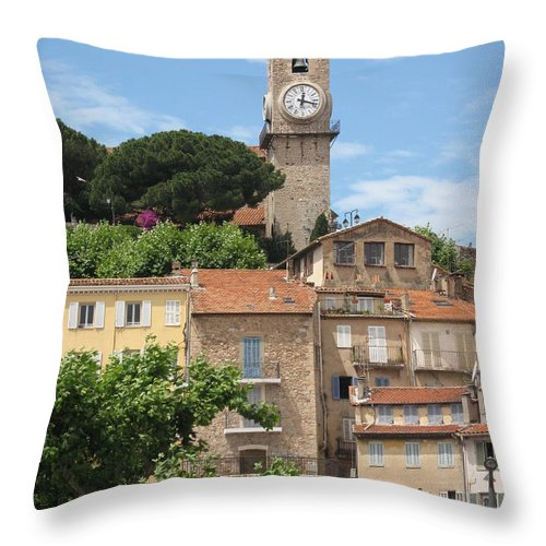 Cannes Throw Pillow featuring the photograph Cannes by Christiane Schulze Art And Photography