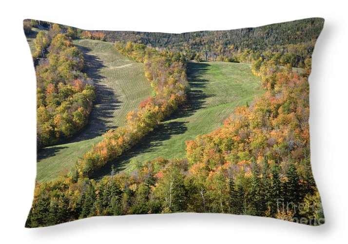 Mountain Throw Pillow featuring the photograph Cannon Mountain - White Mountains New Hanpshire by Erin Paul Donovan