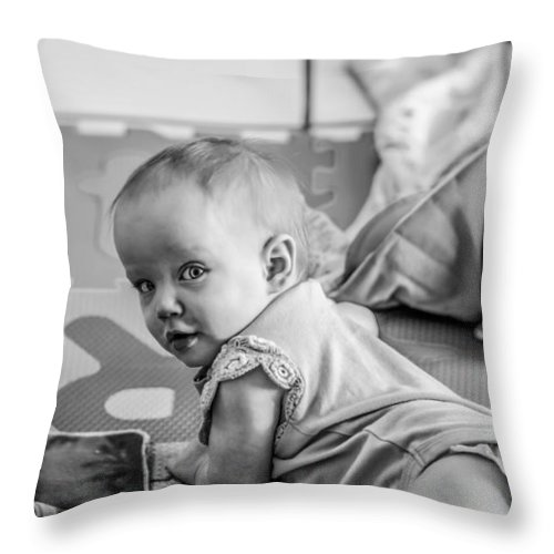 Baby Throw Pillow featuring the photograph Cant Catch Me by Stephen Brown