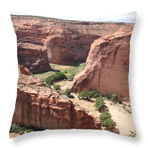 Canyon Throw Pillow featuring the photograph Canyon De Chelly Arizona by Christiane Schulze Art And Photography