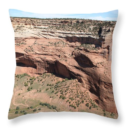 Canyon Throw Pillow featuring the photograph Canyon De Chelly I by Christiane Schulze Art And Photography