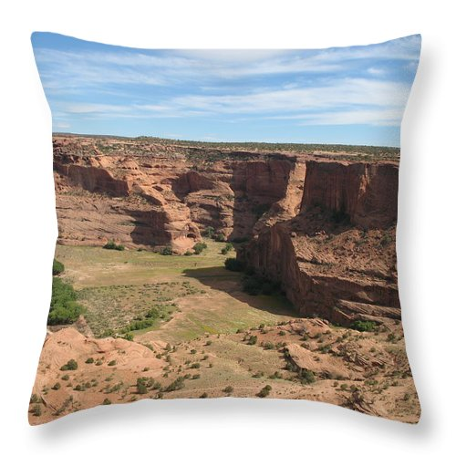 Canyon Throw Pillow featuring the photograph Canyon De Chelly View by Christiane Schulze Art And Photography