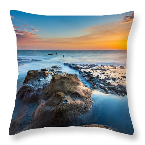 Orcas Throw Pillow featuring the photograph Cape Arago Orcas by Robert Bynum