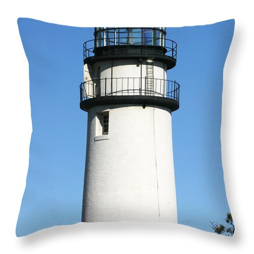 Highland Lighthouse Throw Pillow featuring the photograph Cape Cod Highland Lighthouse by Michelle Constantine