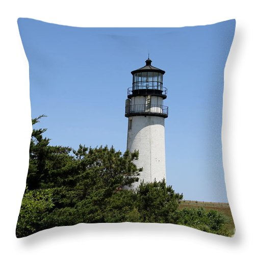 Light Throw Pillow featuring the photograph Cape Cod Light - Highland Light by Christiane Schulze Art And Photography