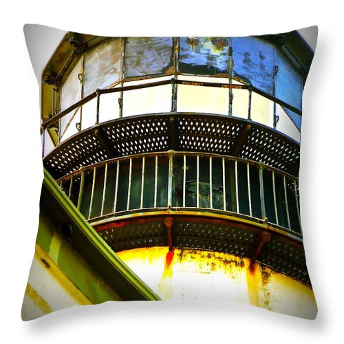 Cape D Throw Pillow featuring the photograph Cape D Lantern Tower Vertical by Pamela Patch