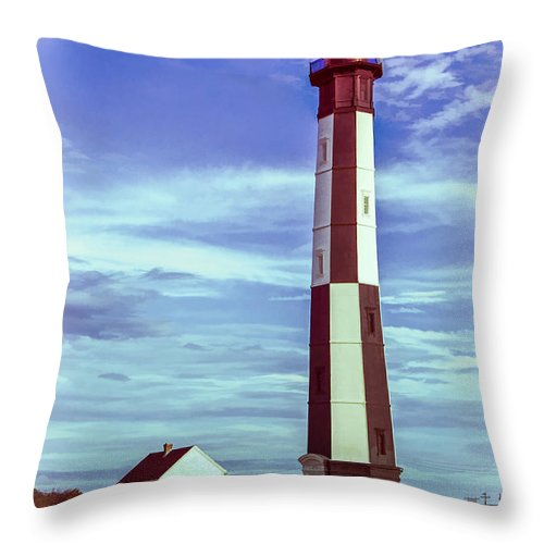 Light Throw Pillow featuring the photograph Cape Henry Lighthouse by Ray Summers Photography