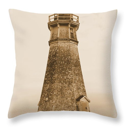 Lighthouse Throw Pillow featuring the photograph Cape Jourimain Lighthouse by Joseph Marquis