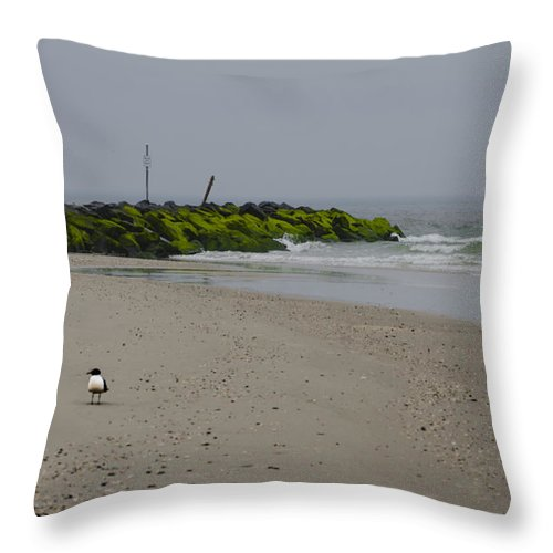 Cape Throw Pillow featuring the photograph Cape May Beach by Bill Cannon