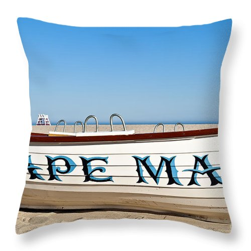 Beach Throw Pillow featuring the photograph Cape May New Jersey by John Greim