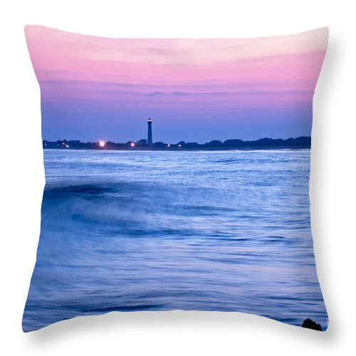 Sea Throw Pillow featuring the photograph Cape May Seascape by Anthony Sacco