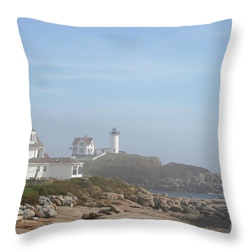 Lighthouse Throw Pillow featuring the photograph Cape Neddick Lighthouse IIi by Christiane Schulze Art And Photography