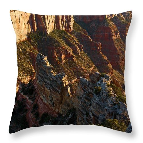 Grand Canyon Throw Pillow featuring the photograph Cape Royal Portrait by Adam Jewell