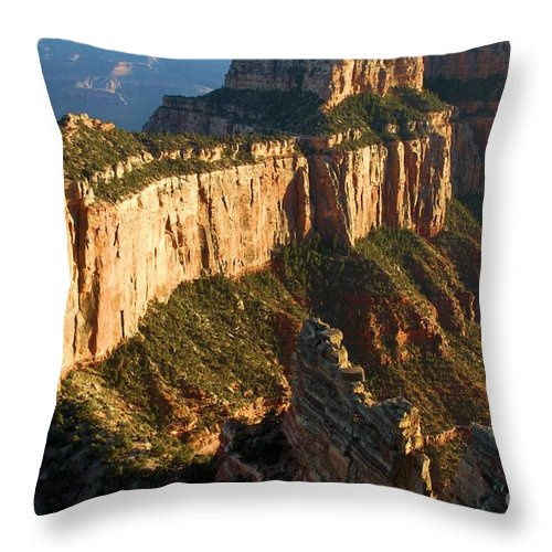 Grand Canyon Throw Pillow featuring the photograph Cape Royal Sunset by Adam Jewell