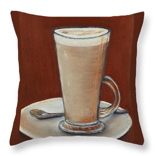 Throw Pillow featuring the digital art Cappuccino by Anastasiya Malakhova