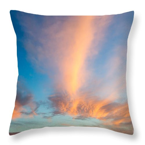 Orange Sunset Throw Pillow featuring the photograph Captivating Clouds by Alanna DPhoto
