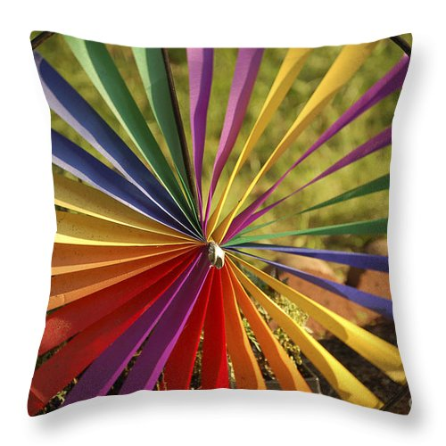 Pinwheel Throw Pillow featuring the photograph Capture The Wind by Colleen Halvorsen-Sinclair